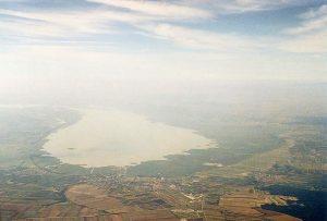 Luftaufnahme vo Neusiedler See