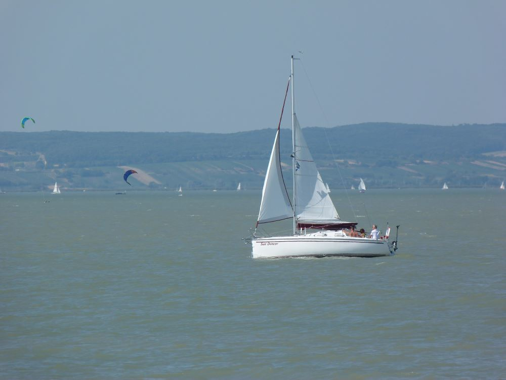 Segelboot am Neusiedler See